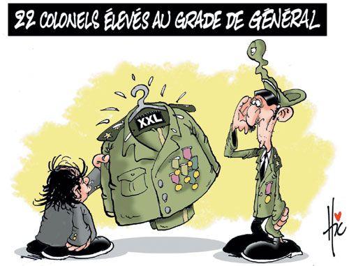 22 nouveaux généraux  !!! allah iberék !!!